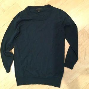 J Crew teal merino sweater XS. NWOT